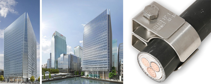 ellis fire proof cleats installed canary wharf