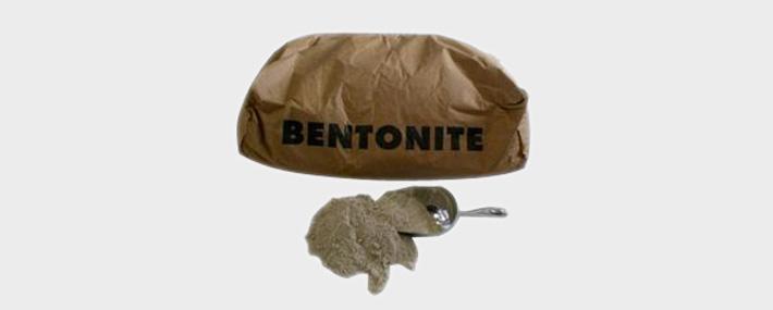 Different forms of bentonite powder granules