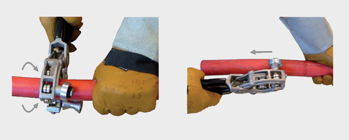 Cable jointers guide stripping PICAS cable