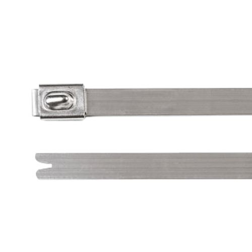 Image for Uncoated Heavy Duty Ball-Lock Stainless Steel Cable Ties