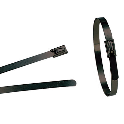Image for Heavy Duty Polyester Coated Stainless Steel RollerBall Cable Ties