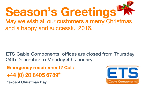 ETS Christmas Opening Hours