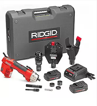 RIDGID Battery Operated Tool, with crimp and cutting heads