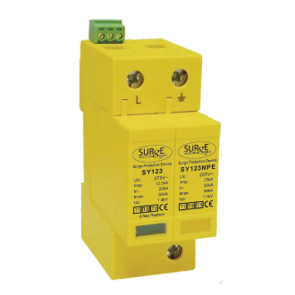 Type 1 + 2 + 3 Combined Lightning/Surge Arrester For DIN Rail Mounting